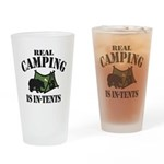 Real Camping Drinking Glass