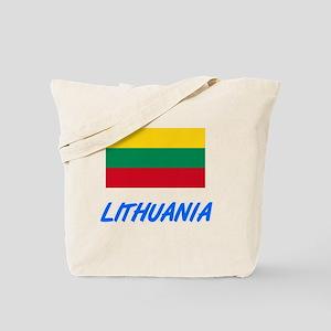 Lithuania Flag Artistic Blue Design Tote Bag