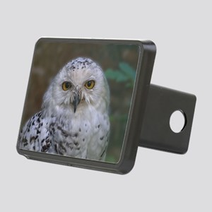 Snowy Owl, Schnee-Eule Rectangular Hitch Cover