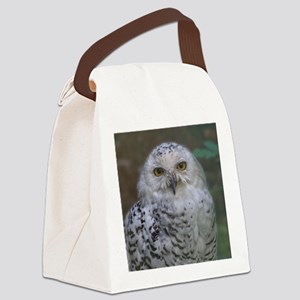 Snowy Owl, Schnee-Eule Canvas Lunch Bag
