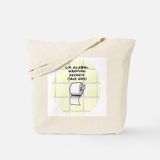 U.N. Global Warming Report Tote Bag