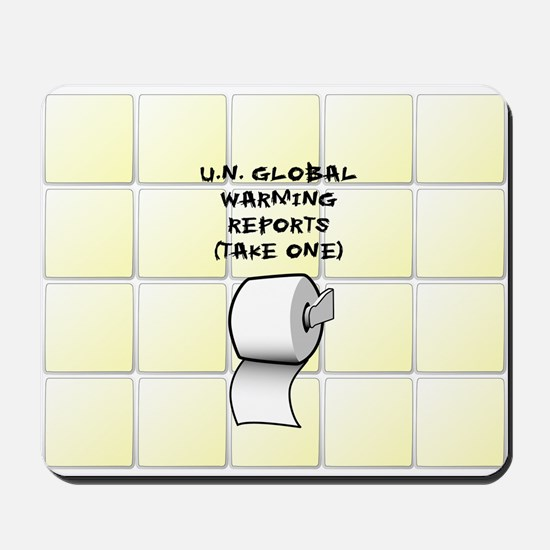 U.N. Global Warming Report Mousepad