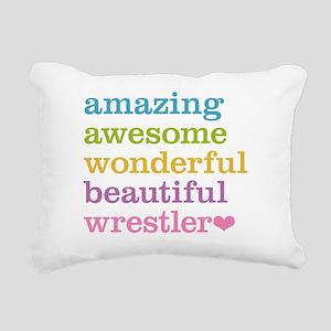 Awesome Wrestler Rectangular Canvas Pillow