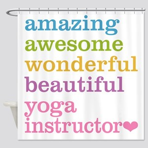 Yoga Instructor Shower Curtain