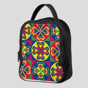 Folk Hearts Neoprene Lunch Bag