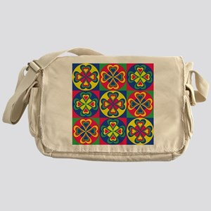 Folk Hearts Messenger Bag