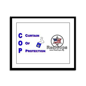 What Is A Cop Framed Panel Print