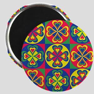Folk Hearts Magnets