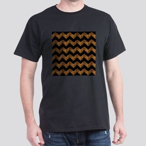 black chevron leopard print T-Shirt