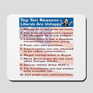 Top Ten Reasons Liberals Are Mousepad