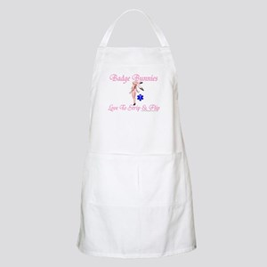Badge Bunnies Strip BBQ Apron
