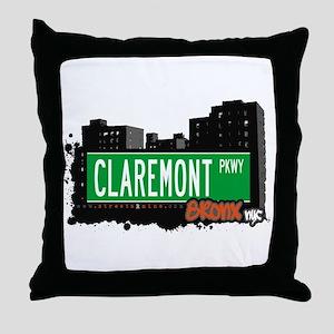 Claremont Pkwy, Bronx, NYC Throw Pillow