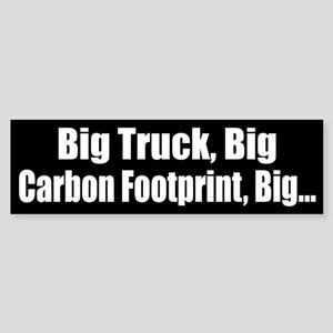 Big Truck Black Bumper Sticker
