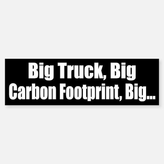 Big Truck Black Bumper Bumper Bumper Sticker