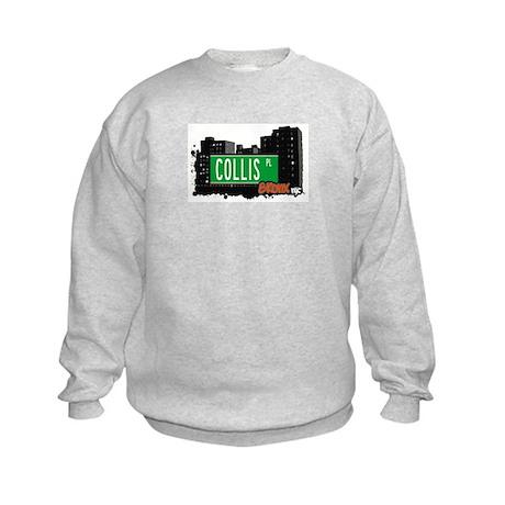 Collis Pl, Bronx, NYC Kids Sweatshirt