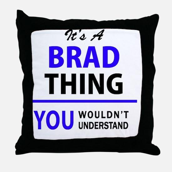 Cute Brad Throw Pillow