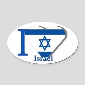 I love Israel Oval Car Magnet