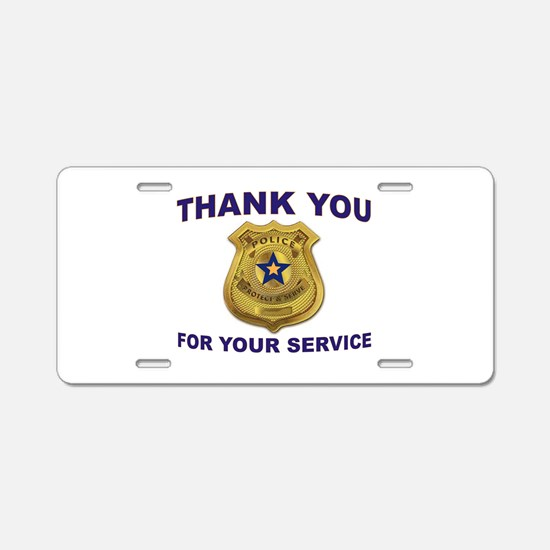 Police Thanks Aluminum License Plate