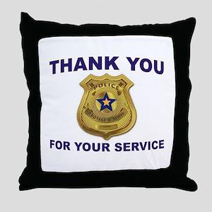 POLICE THANKS Throw Pillow