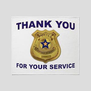 POLICE THANKS Throw Blanket