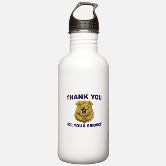 POLICE THANKS Water Bottle