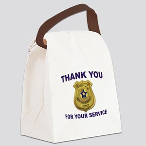 POLICE THANKS Canvas Lunch Bag