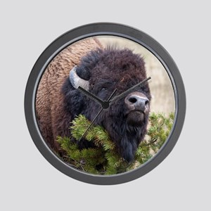 Christmas Bison Wall Clock
