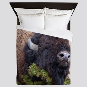 Christmas Bison Queen Duvet