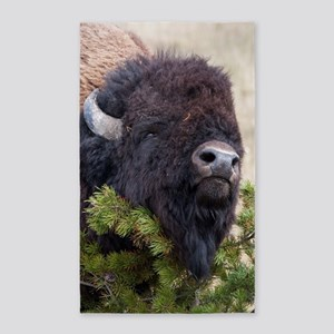 Christmas Bison Area Rug
