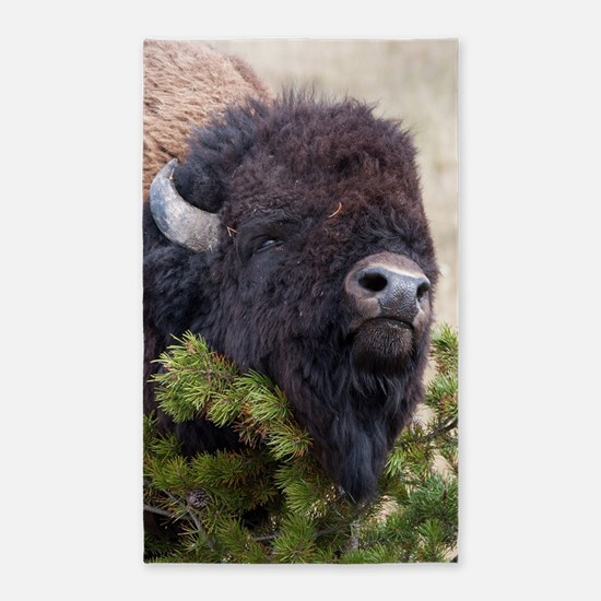 Christmas Bison Area Rug