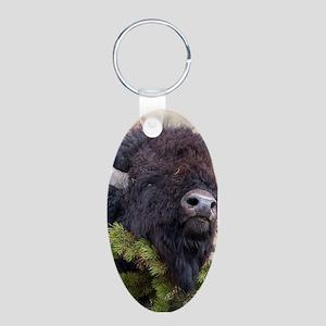 Christmas Bison Keychains