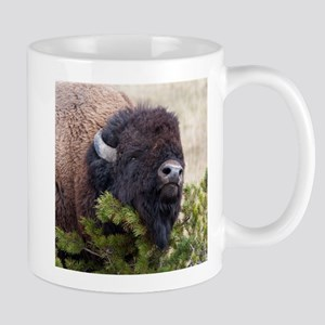 Christmas Bison Mugs