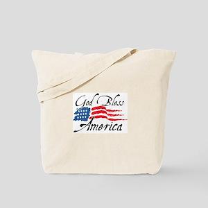 God Bless America v2 Tote Bag