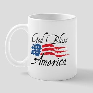 God Bless America v2 Mug