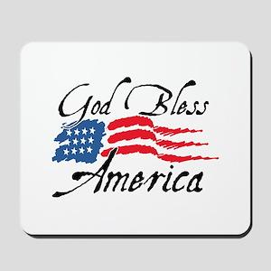 God Bless America v2 Mousepad