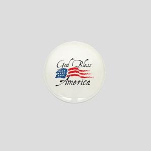 God Bless America v2 Mini Button
