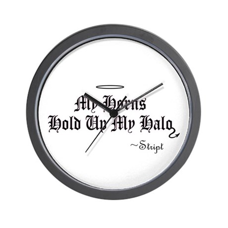 My horns hold up my halo, by Wall Clock