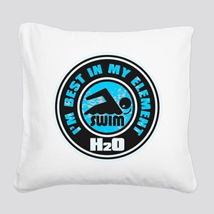 H2O_SWIMMER Square Canvas Pillow