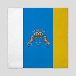 Islas Canarias flag Queen Duvet