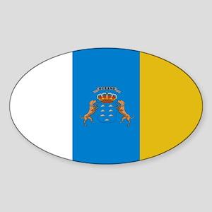 Islas Canarias flag Sticker (Oval)