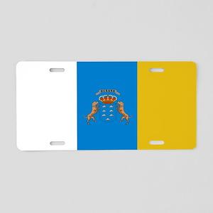 Islas Canarias flag Aluminum License Plate