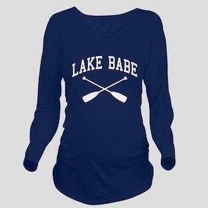 Lake Babe Long Sleeve Maternity T-Shirt