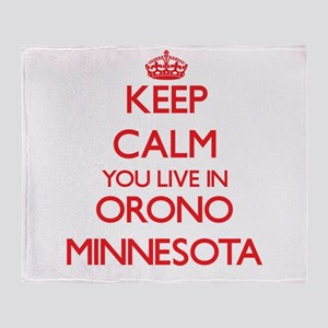 Keep calm you live in Orono Minnesot Throw Blanket