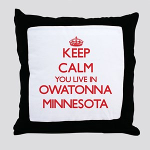 Keep calm you live in Owatonna Minnes Throw Pillow