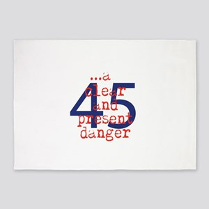 Clear and present danger 5'x7'Area Rug