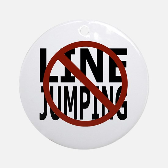 Anti-Line Jumping Ornament (Round)