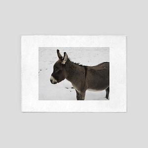 Miniature Donkey III 5'x7'Area Rug