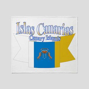 Islas Canarias Ribbon Throw Blanket