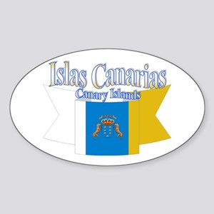 Islas Canarias ribbon Sticker (Oval)