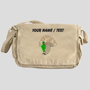 Custom Leprechaun And Mushroom Messenger Bag